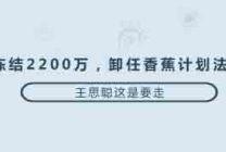 冻结2200万,卸任香蕉计划法人,王思聪这是要走?